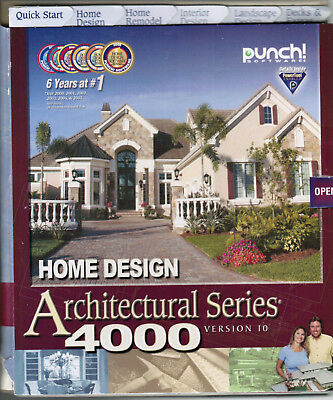 Punch! Home Design Architectural Series 4000 Version 10 Software FACTORY SEALED