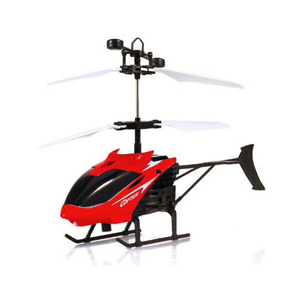 Hand Induction Helicopter Flashing Flying Mini Toy RC Infrared Airplanes - Red