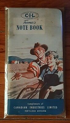 1945 CIL Farmers Notebook Fertilizer Corn Planting Yield Memo Data Booklet