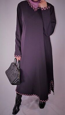 V neck modest dress abaya variety of colors, wrinkle free sizes S,M,L,XL