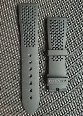 Zenith Rubber Strap for El Primero Pilot & Chronomaster Watches 21mm Perforated