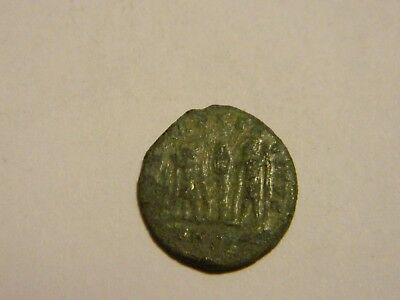 Rare Old Ancient Coin Constantine Era Roman Coin Two Soldiers -- Lot #530