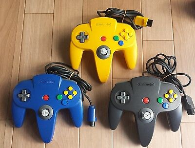Nintendo 64 Three 3 Controller Bros. N64 Official Tested&working
