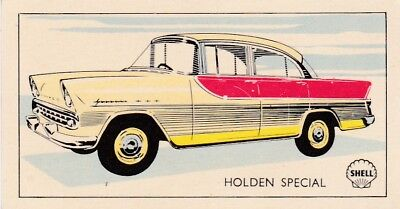 "1960' HOLDEN Special Sedan Shell... Oil NZ Collector CARD..""Cars of the World"""