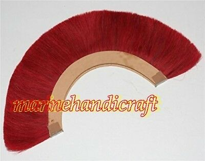 RED PLUME BLACK CREST BRUSH Natural Horse Hair FOR ROMAN OFFICER ARMOR HELMET