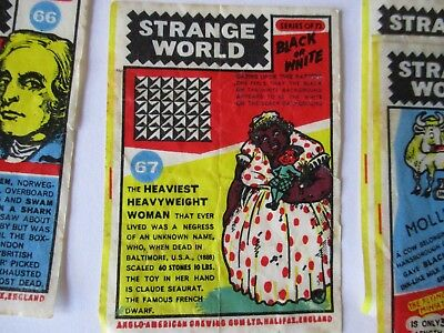Vintage Group Of Chewing Gum Strange World Waxed Inserts