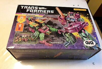 transformers g1 scorpion skorponoc takara box  gig