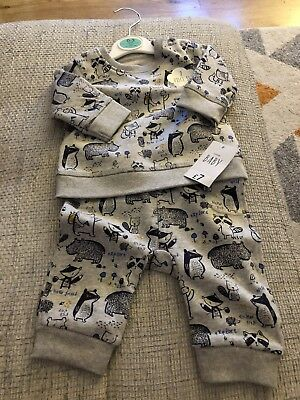 Bnwt 0-3 Months Baby Boys Jumper And Jogger Set
