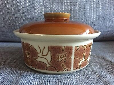 Crown Lynn Interlude Retro Casserole Ovenproof Dish With Lid Cookware Made In NZ