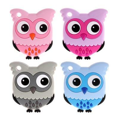 Owl Bpa Free Silicone Baby Teethers Silicone Baby Toy Teether Bead