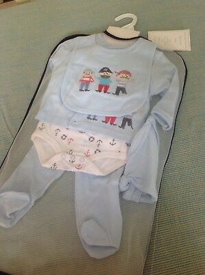 BNWT Bebe Bonito Baby Boy 5 Piece Gift Set 0-3 Months