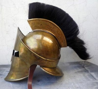Adult 300 Spartan Helmet ~ King Leonidas Roman Movie Helm W / Plume spartan