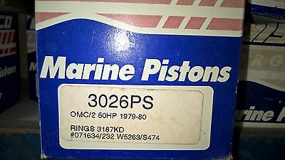 Wiseco Piston OMC/2 50HP 1979-80  3026PS