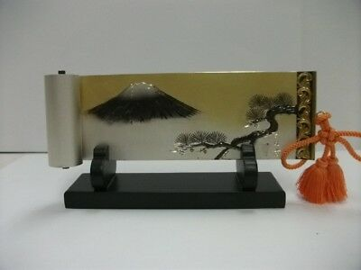 The picture scroll of the pure silver pine and Mt. Fuji. TAKEHIKO's work.