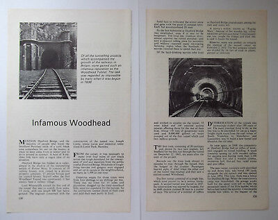 YORKSHIRE Infamous Woodhead Tunnel 1975 Small Article