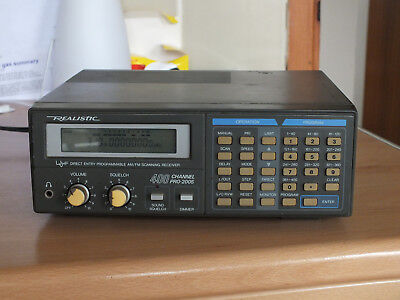 Realistic Pro 2005 400 Channel UHF AM/FM Programmable Scanner Receiver