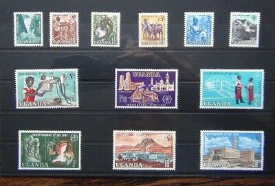 Uganda 1962 - 1964 Independence set complete to 20s MM SG99 - SG110