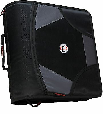 staples case it 2 inch d ring zipper binder expandable tab file