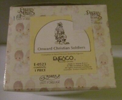 Precious Moments Figurine - E-0523 - Onward Christian Soldiers - Light Box Wear