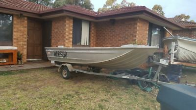 savage jabiru 3.8m 12ft v-nose punt tinny boatdinghy