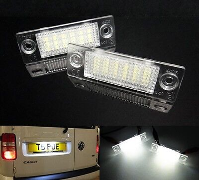 VW Transporter T5 Caravelle Caddy Touran LED Licence Number Plate Light No Error