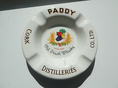 VINTAGE PADDY OLD IRISH WHISKY Whiskey Scotch CORK DISTILLERIES ARKLOW ASHTRAY