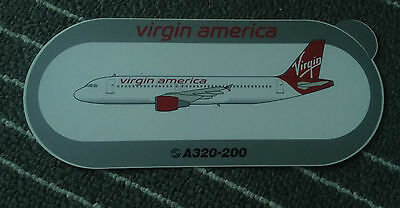 Airbus Virgin America Airlines Sticker