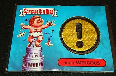 Garbage Pail Kids Adam-geddon Patch Card HUGH MUNGOUS 8a 22/50