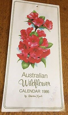 Vintage 1986 Australian Wildflower Calendar by Deidre Hunt