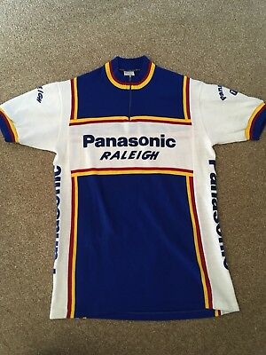 b96c48494 VINTAGE 1980 S RALEIGH Team Panasonic Short Sleeve Cycling Jersey ...
