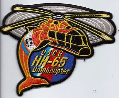 USCG United States Coast Guard Patch HH-65 Dolphcopter 3-1/2X4-1/2 in Dolphin