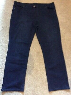 Ladies Bhs Dark Blue Jeans Size 20