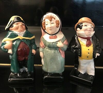 Lotto di 3 -Royal Doulton Dickens- - Mrs Bardell- - Bumble-– Captain Cuttle