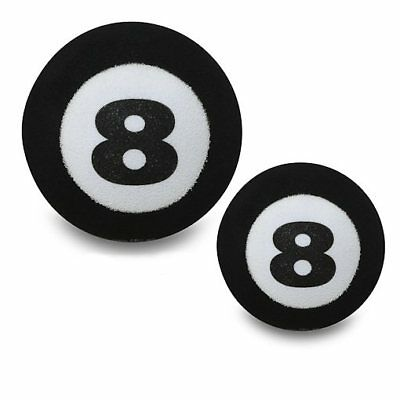 Antennenball Black Eight Ball Billiard Topper Snooker Innenspiegel WackyWobber