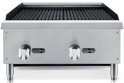 "Chef's Exclusive 24"" Commercial Countertop Radiant Char Broiler 70,000BTU NATGAS"