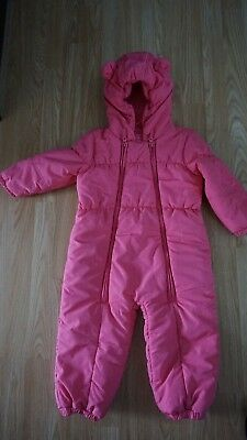 Next girls snowsuit age 2-3