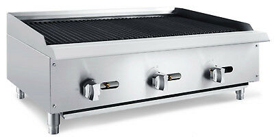 """Chef's Exclusive 36"""" Commercial Countertop Radiant Char Broiler 105,000BTU NAT"""