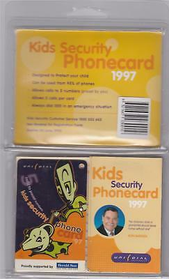 Unidial Pack With Kids Security Phonecard 1997 Ron Barassi  Herald Sun C72