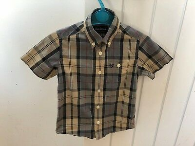 Barbour Dress Tartan Shirt Boys Age 4/5 Size XS