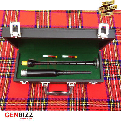 Bagpipes Practice Chanter Rose Wood Black Finish Silver mounts High Quality A+
