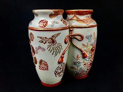 Small Antique Japanese Kutani Vase 1000 Picclick Uk