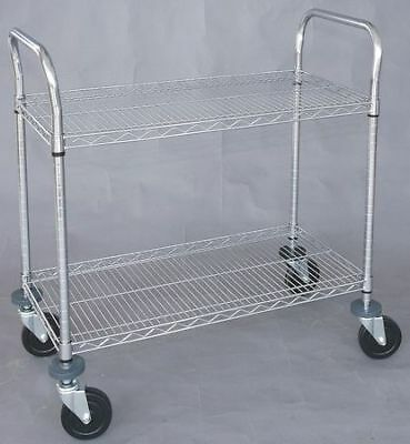 Wire High Cart,Heavy Duty,24x48x39 In ZORO SELECT 1ECJ5