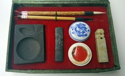 Chinese vintage calligraphy writing set complete B