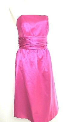 Lilly Pulitzer Dress Size 6 Pink Cotton Silk Satin Strapless Knee Length Formal