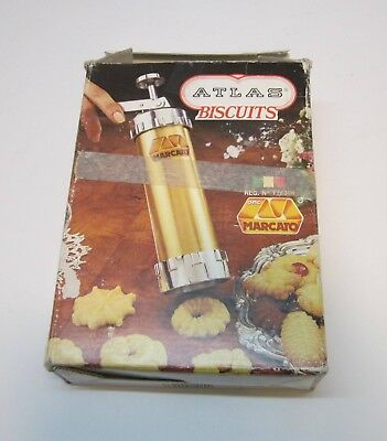 Vintage Marcato Atlas Biscuits Cookie Press Biscuit Maker-Made In Italy