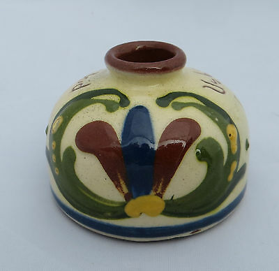 Longpark Torquay Motto Ware - Pottery Inkwell / Ink Well - Scandy
