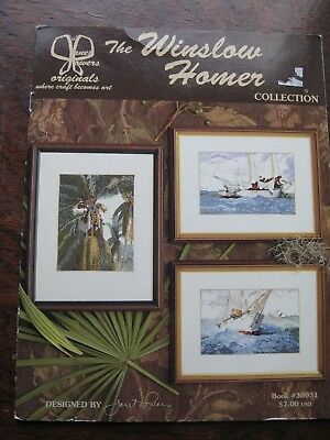 Janet Powers Original Winslow Homer Art works Coconut Palm Sailing ship Key West