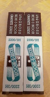 1 Dozen Vintage kohinoor  Graphite Drawing Leads 2200/3H consider offers.new box