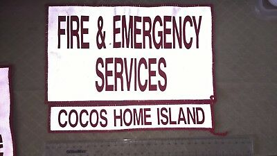 Volunteer Cocos Home Island Fire And Rescue/emergency Services Fesa Patches Set.