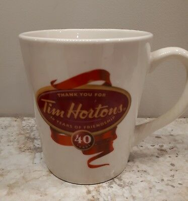 Tim Hortons 2004 40th Anniversary Mug  Limited Edition